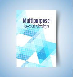 multipurpose layout design 6 vector image