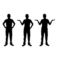 set of people presenting vector image vector image