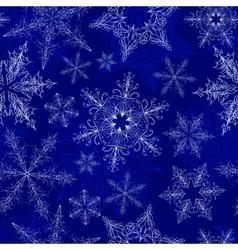 Snowflake Seamless Pattern vector image