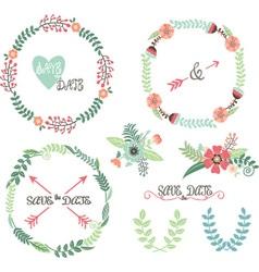 Wedding Wreath Laurel Elements vector image