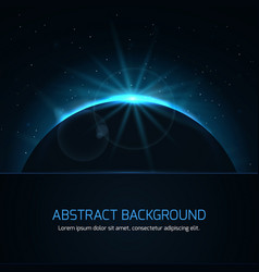abstract background with planet and stars on night vector image