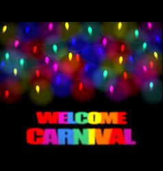 christmas carnival festivity festival of garland vector image vector image