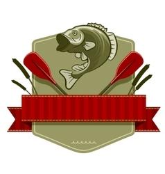 Fishing Emblem vector image