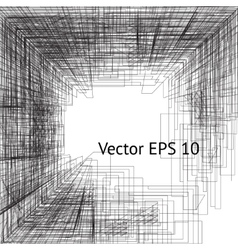 graphic square presentation design vector image vector image