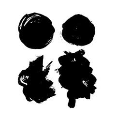 grunge hand drawn brush strokes vector image