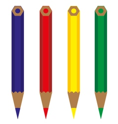 pencil color vector image