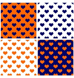Tile dark navy blue white and orange background vector image vector image