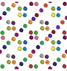 Colored dots beautiful abstract seamless pattern vector image