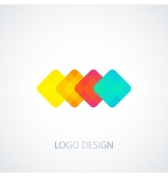 colored squares logo vector image vector image