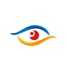 eye vision colored optic logo vector image vector image