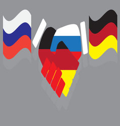 Friendship between Russia and Germany vector image vector image