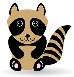 Funny raccoon on white background vector image vector image