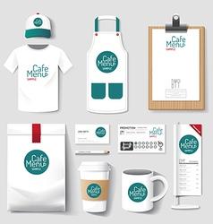 uniform restaurant cafe set flyer menu package vector image vector image