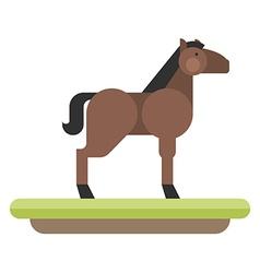 Farm animal Horse flat style vector image