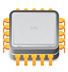 Icon for microprocessor vector image