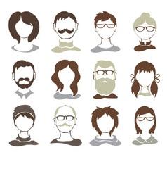 Set - avatars vector image