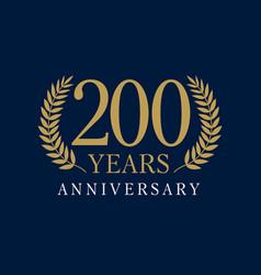 200 anniversary royal logo vector