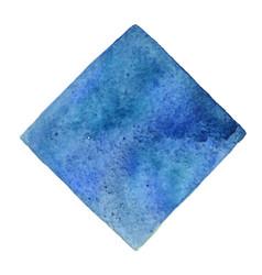 Abstract indigo and deep blue square watercolor vector