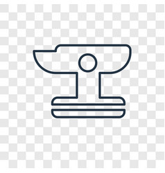 anvil concept linear icon isolated on transparent vector image
