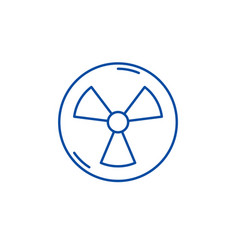 Atomic industry line icon concept atomic industry vector