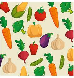 Background of healthy vegetables vector