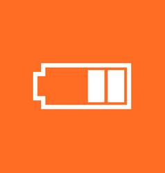 battery level indicator on orange background vector image