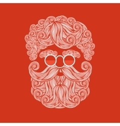 Beard and mustache of Santa Claus vector