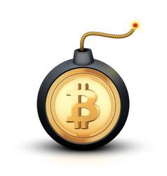 Bitcoin bomb symbol vector