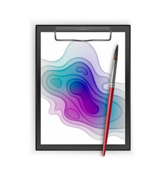black clipboard with colorful poster size of a4 vector image