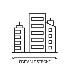 Business building pixel perfect linear icon vector
