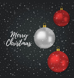 Christmas background with 3d realistic ball vector