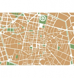 city center map vector image