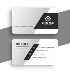Clean minimal grey business card template design vector