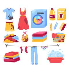 Clothing wash icon set vector