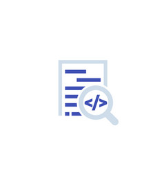code review software development icon vector image