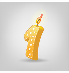 colored candles for holiday hand-drawn vector image