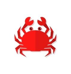 Crab flat vector image