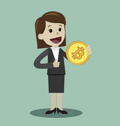 Crypto-currency market business success vector