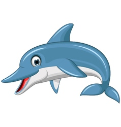 cute dolphin cartoon vector image
