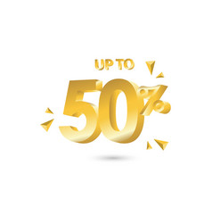 Discount up to 50 template design vector