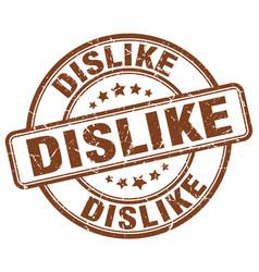 Dislike brown grunge stamp vector