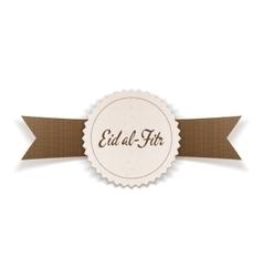 Eid al-fitr festive islamic badge vector