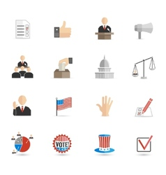 Elections icons flat set vector image