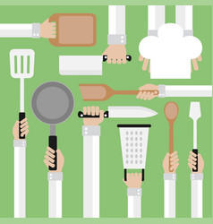 Flat modern design conceptcooking tools vector