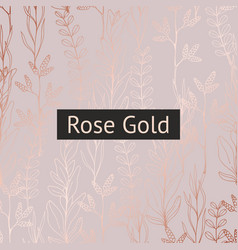 Floral pattern with rose gold imitation vector