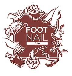 Foot and nail spa vector