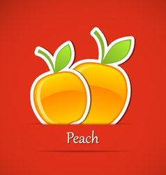 Fruit label Peach vector image