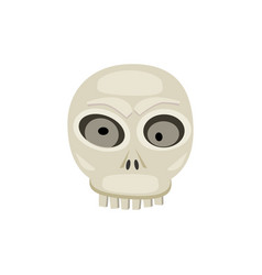 halloween scull cartoon vector image