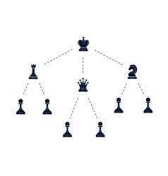 hierarchy company with chess icons vector image