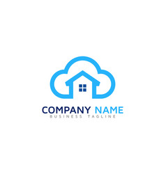 home cloud logo icon design vector image